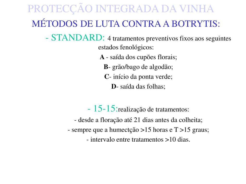 MÉTODOS DE LUTA CONTRA A BOTRYTIS:
