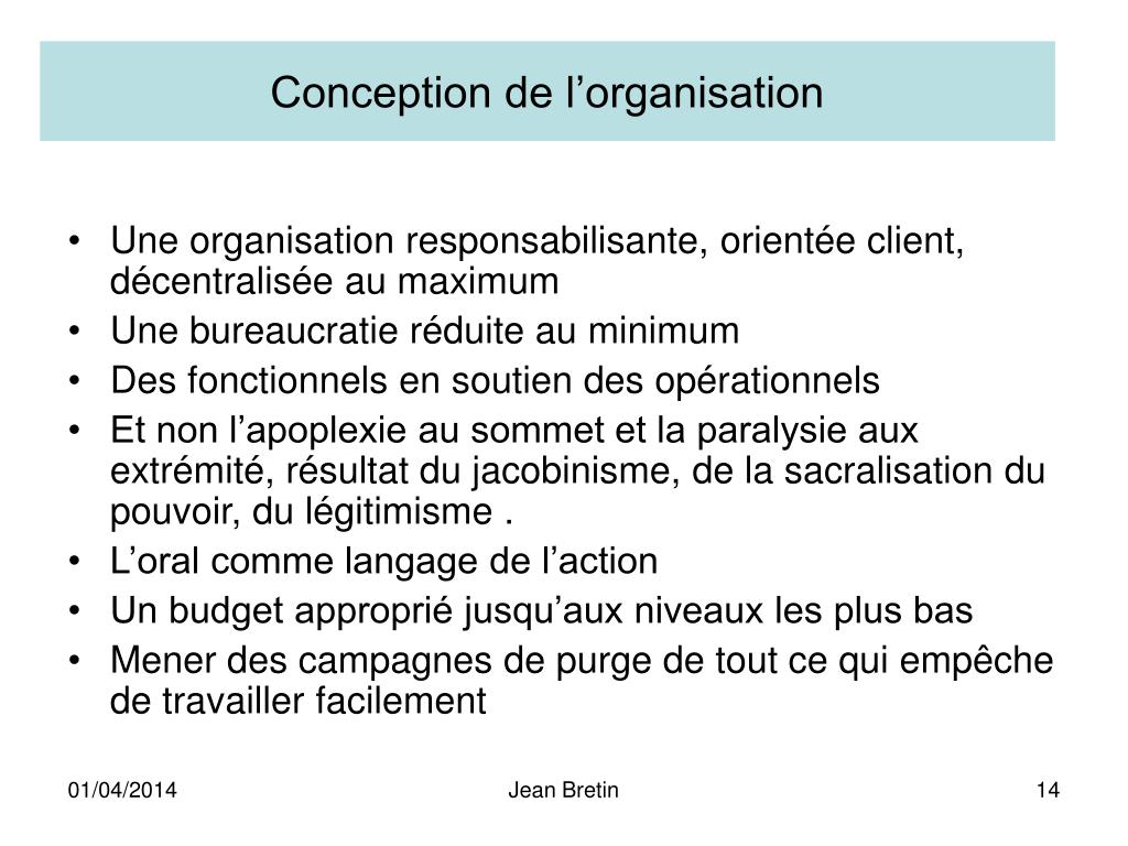 Conception de l'organisation