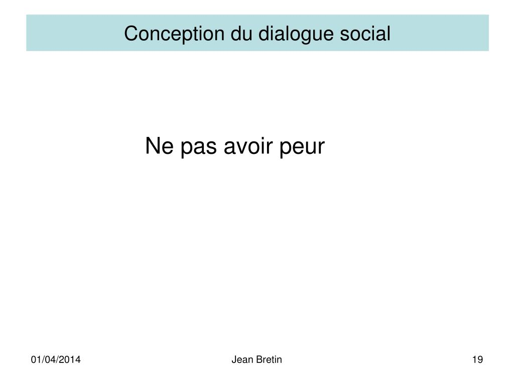 Conception du dialogue social