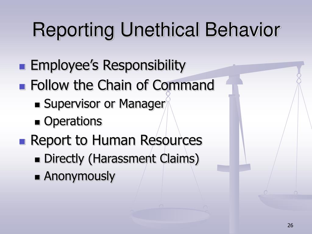 Reporting Unethical Behavior