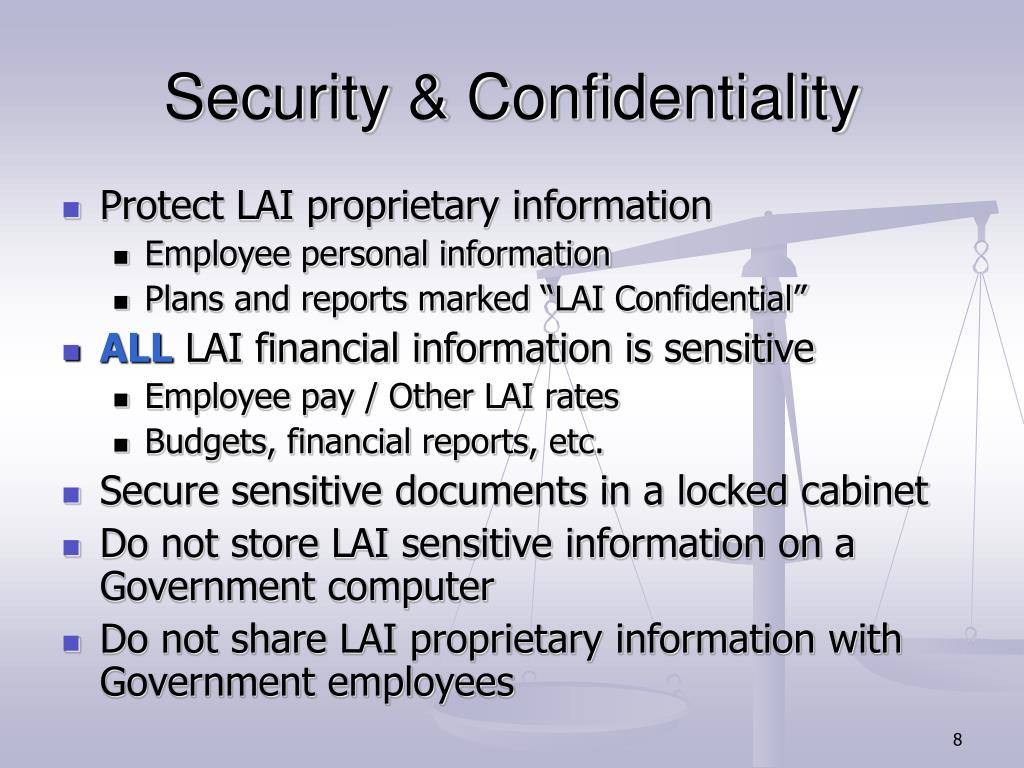 Security & Confidentiality