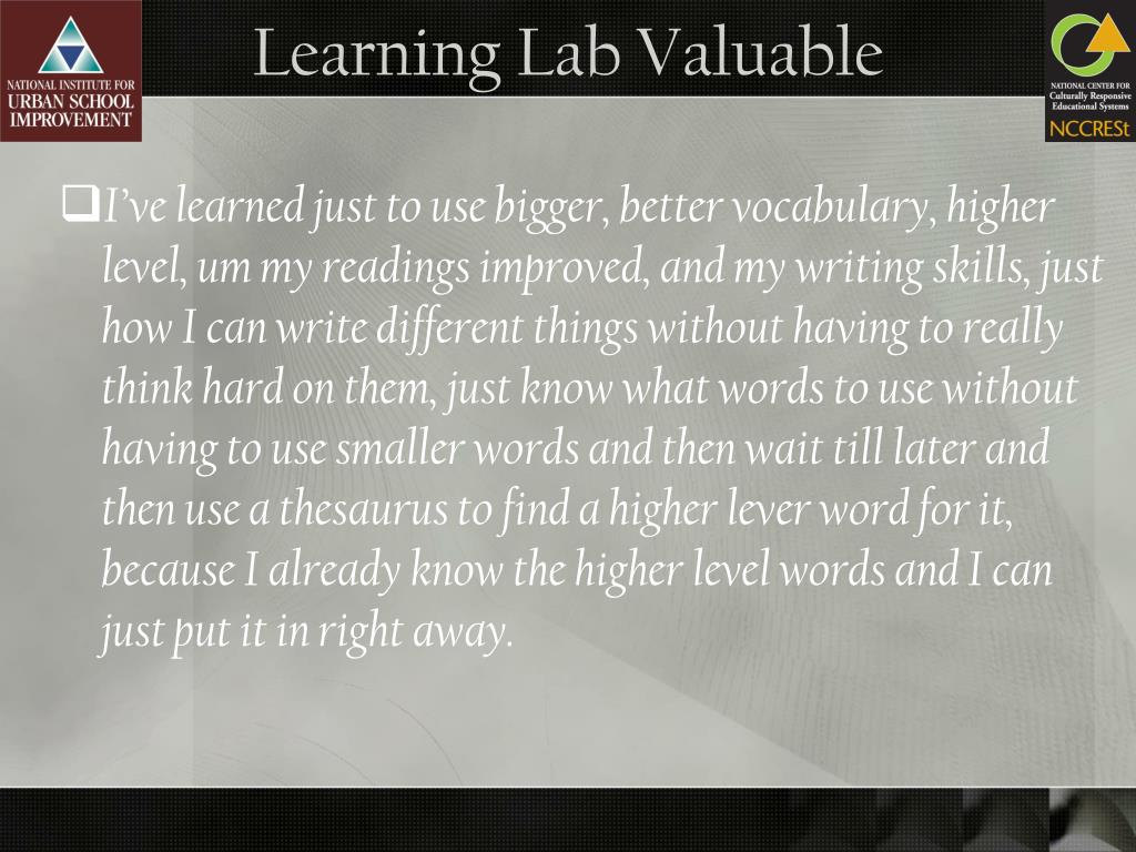 Learning Lab Valuable