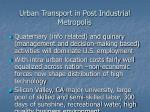 urban transport in post industrial metropolis