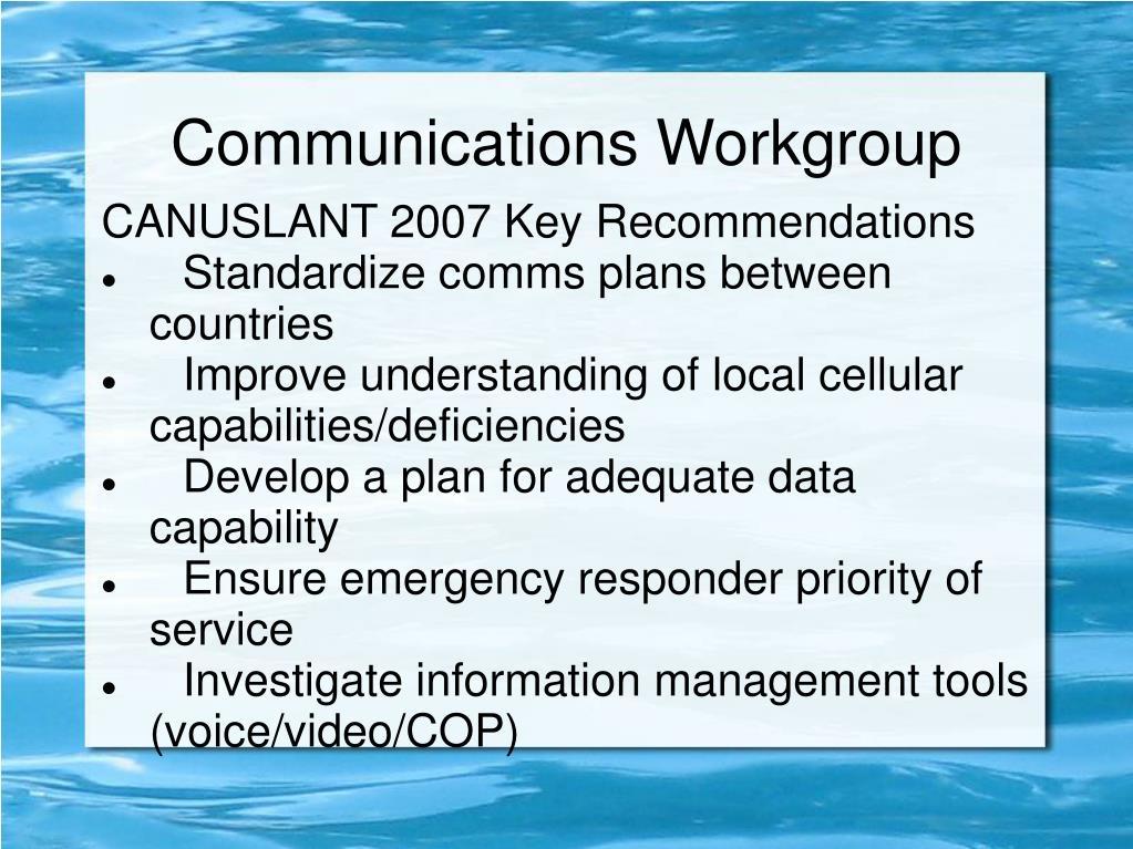 communications workgroup l.