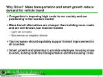 why drive mass transportation and smart growth reduce demand for vehicle travel