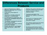 differences between service and products