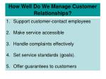 how well do we manage customer relationships