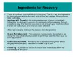 ingredients for recovery
