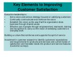 key elements to improving customer satisfaction