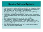 service delivery systems