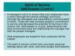 spirit of service self esteem cont d