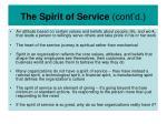 the spirit of service cont d