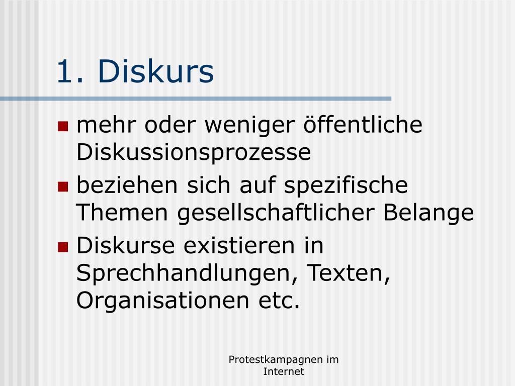 1. Diskurs