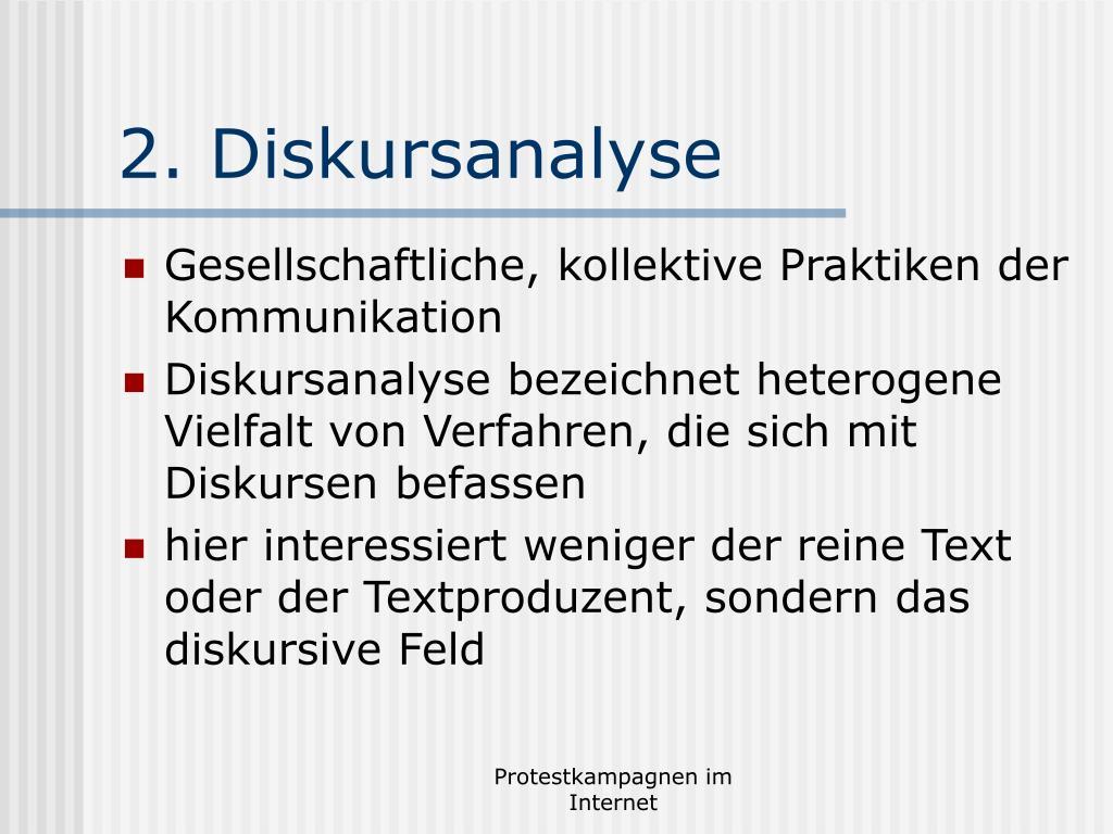 2. Diskursanalyse