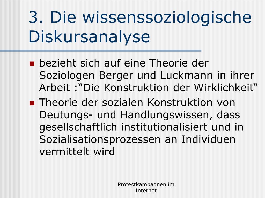 3. Die wissenssoziologische Diskursanalyse