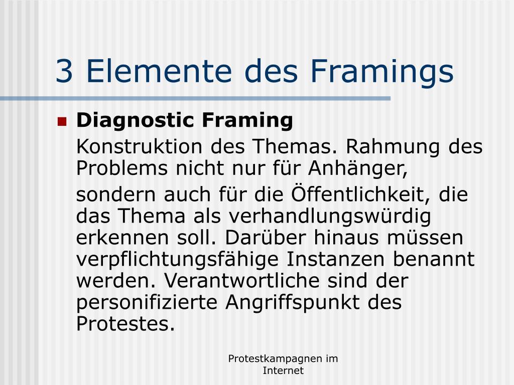 3 Elemente des Framings