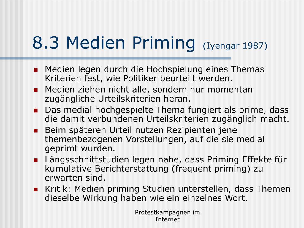 8.3 Medien Priming