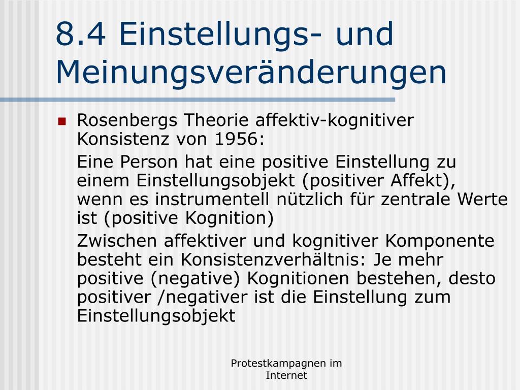 8.4 Einstellungs- und Meinungsveränderungen