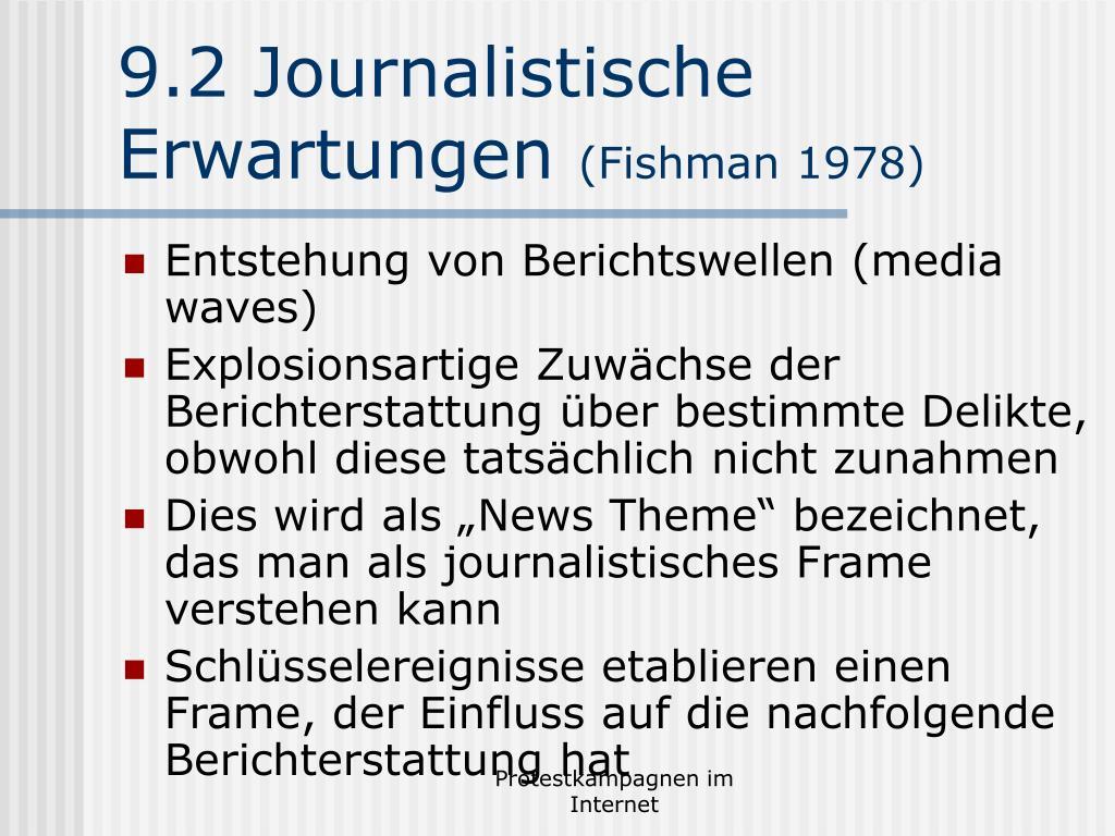 9.2 Journalistische Erwartungen
