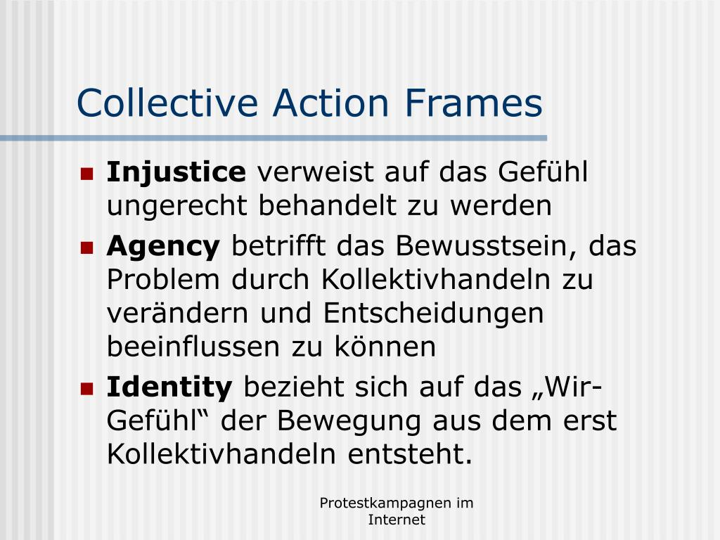 Collective Action Frames