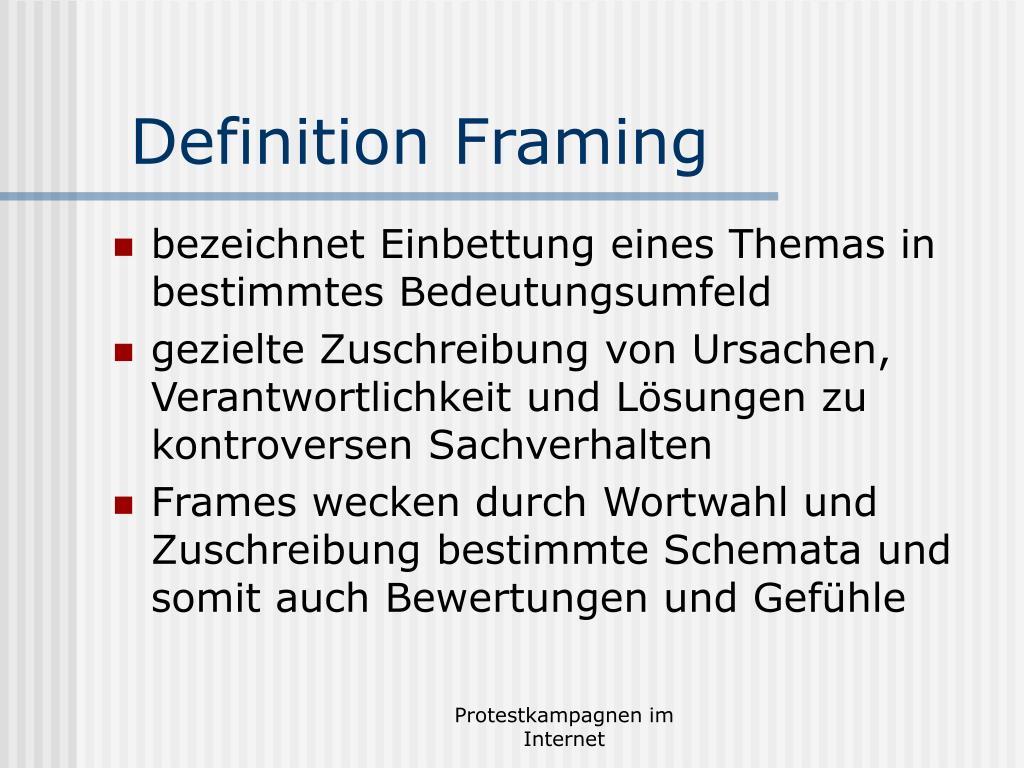 Definition Framing