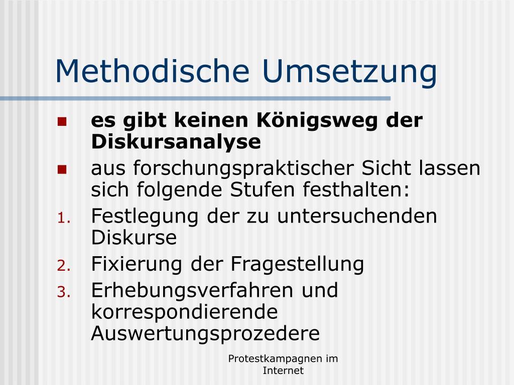 Methodische Umsetzung