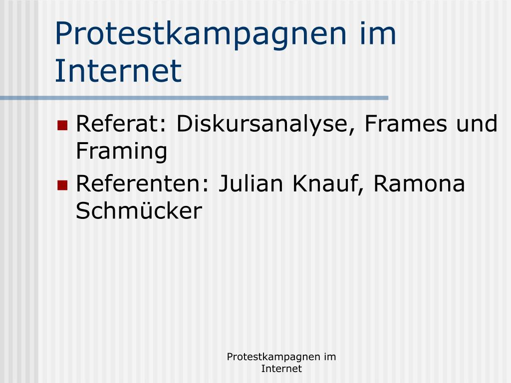Protestkampagnen im Internet