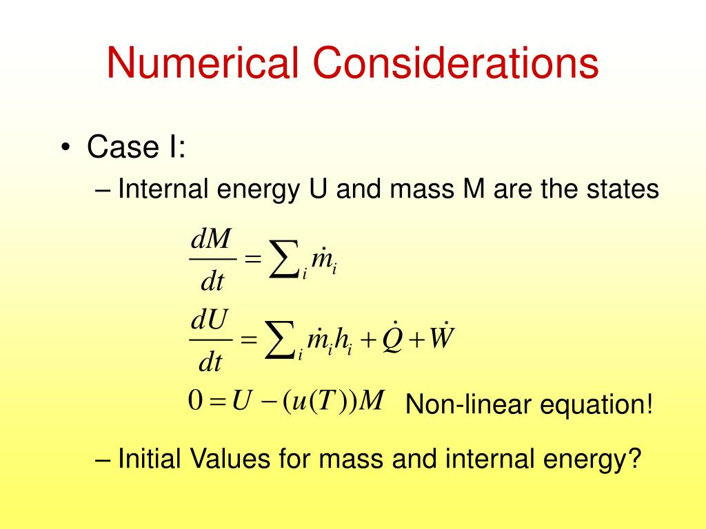 Numerical Considerations