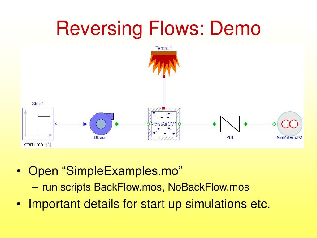 Reversing Flows: Demo