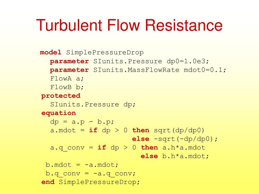 Turbulent Flow Resistance