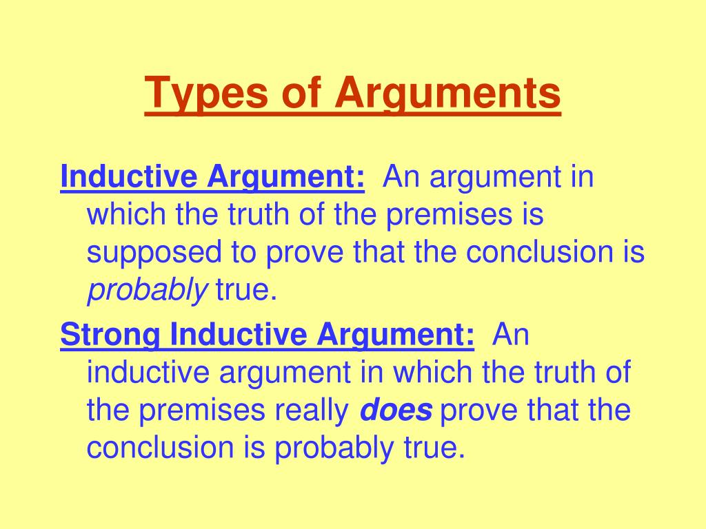 what makes an inductive argument strong