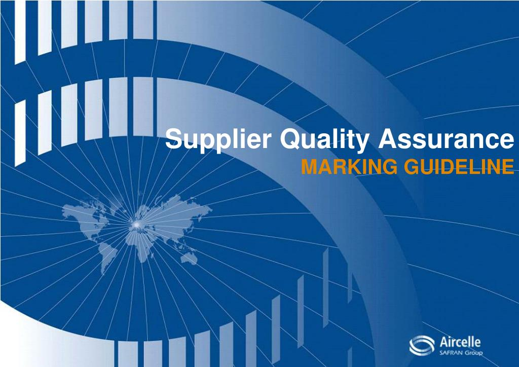 Supplier Quality Assurance