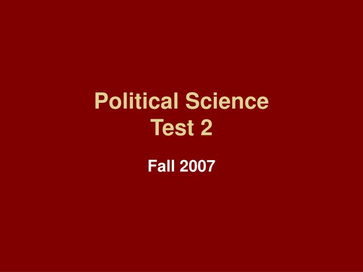 political science test 2 n.