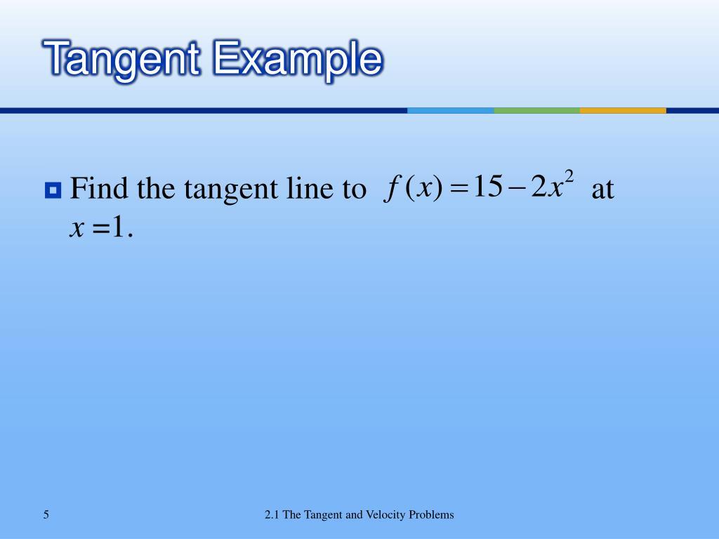 Tangent Example