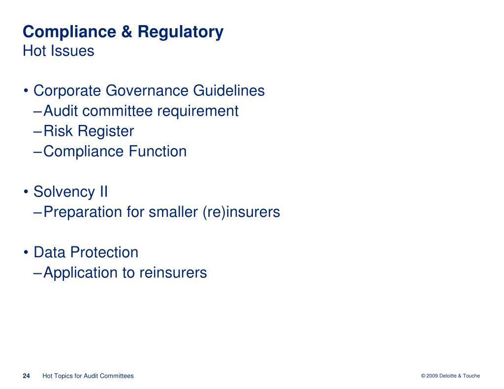 Compliance & Regulatory
