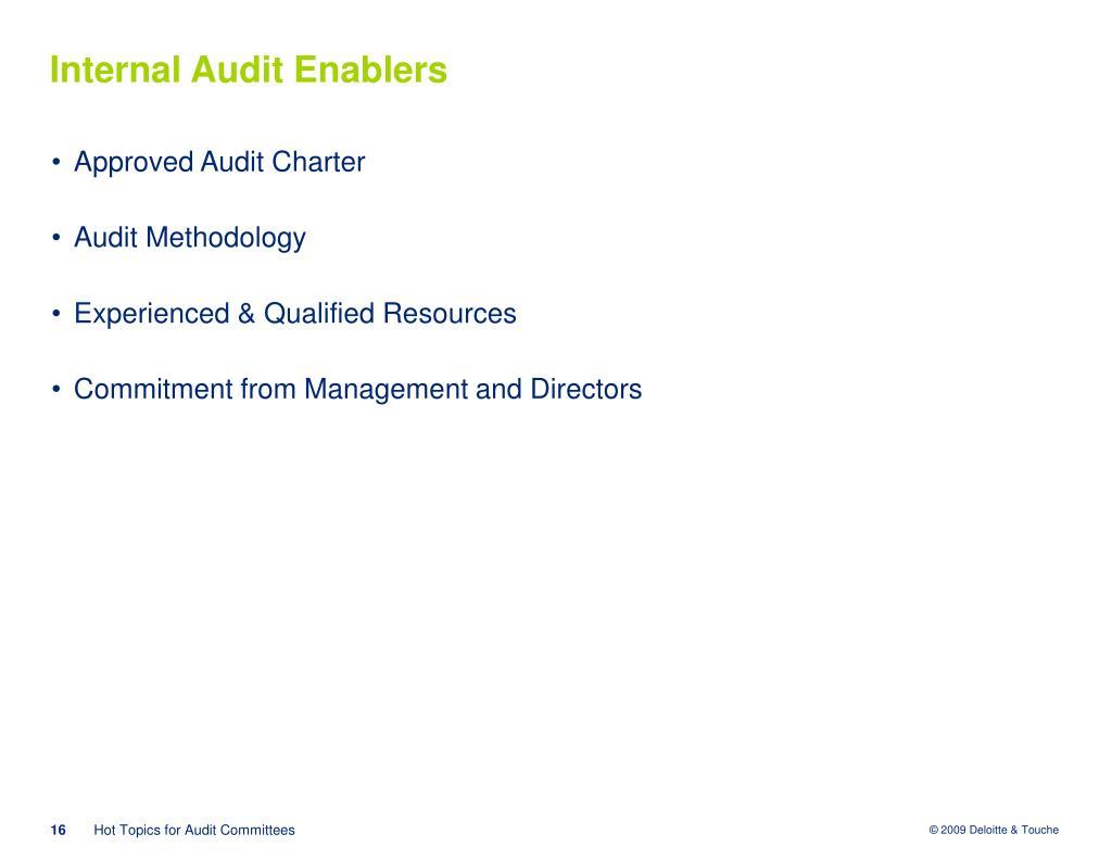 Internal Audit Enablers