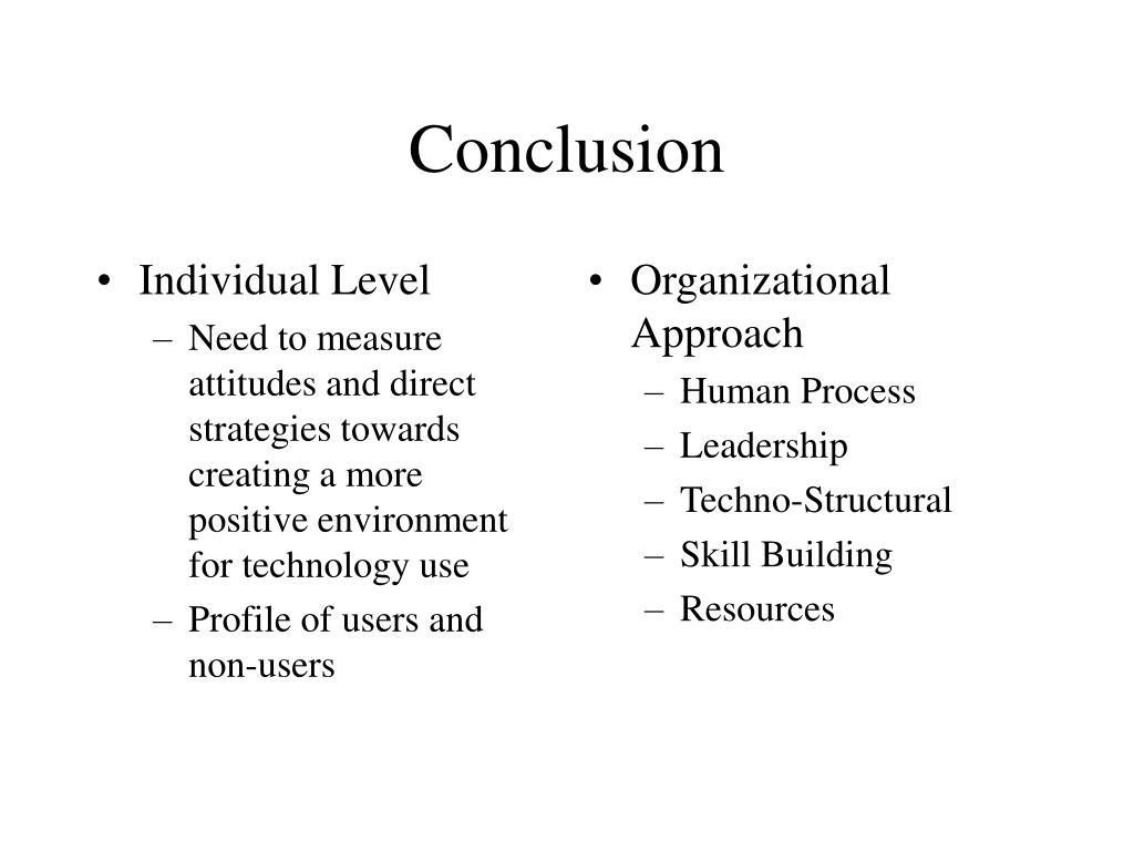 Individual Level