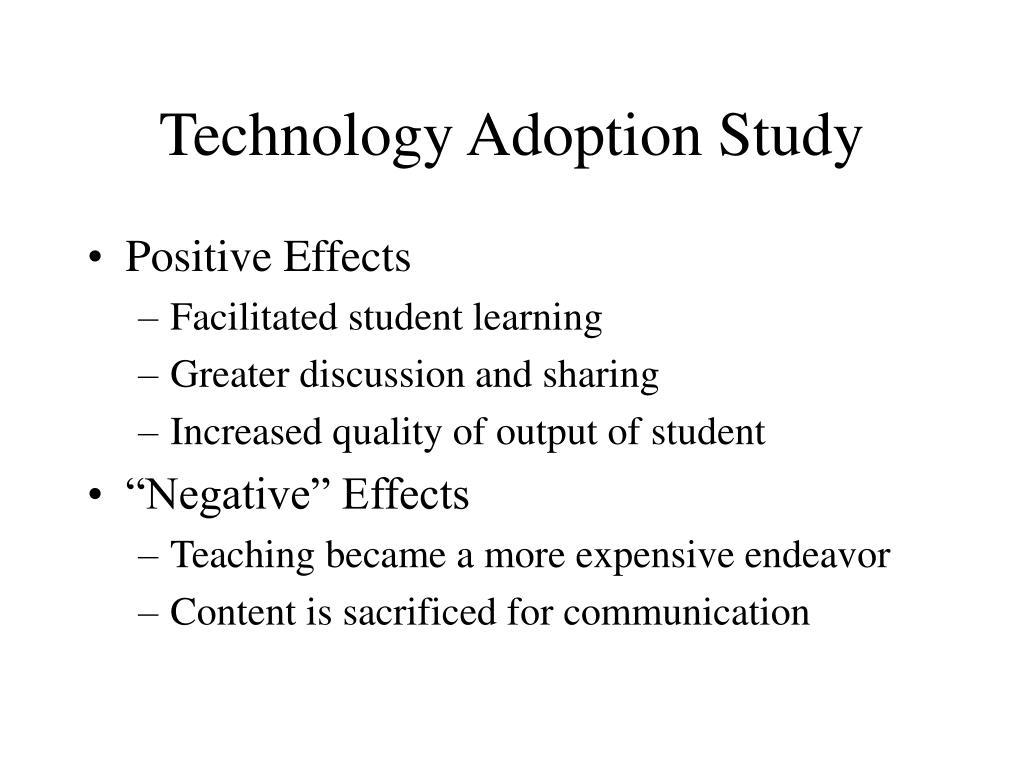 Technology Adoption Study