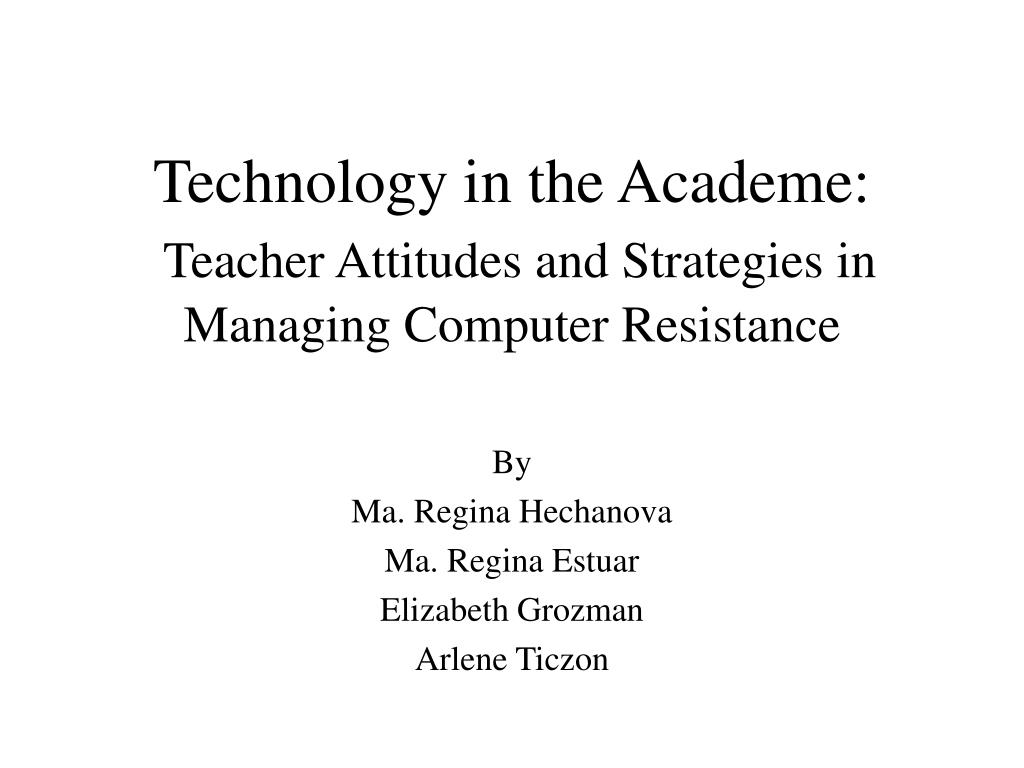 Technology in the Academe: