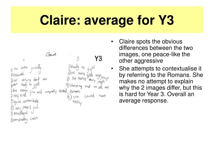 Claire average for y3