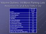volume outliers 10 worst parking lots account for 15 of all auto thefts in city