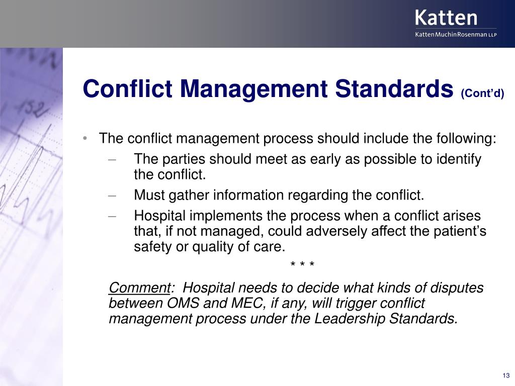 Conflict Management Standards