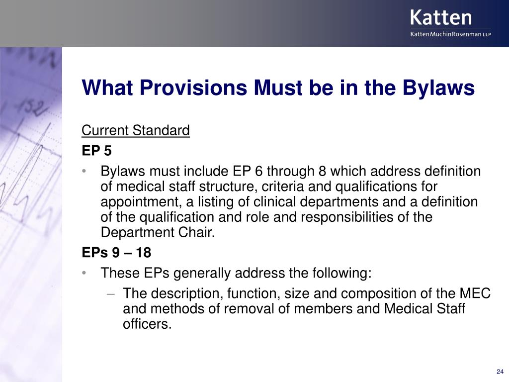 What Provisions Must be in the Bylaws