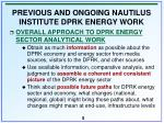 previous and ongoing nautilus institute dprk energy work5