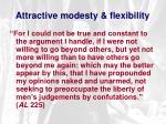 attractive modesty flexibility