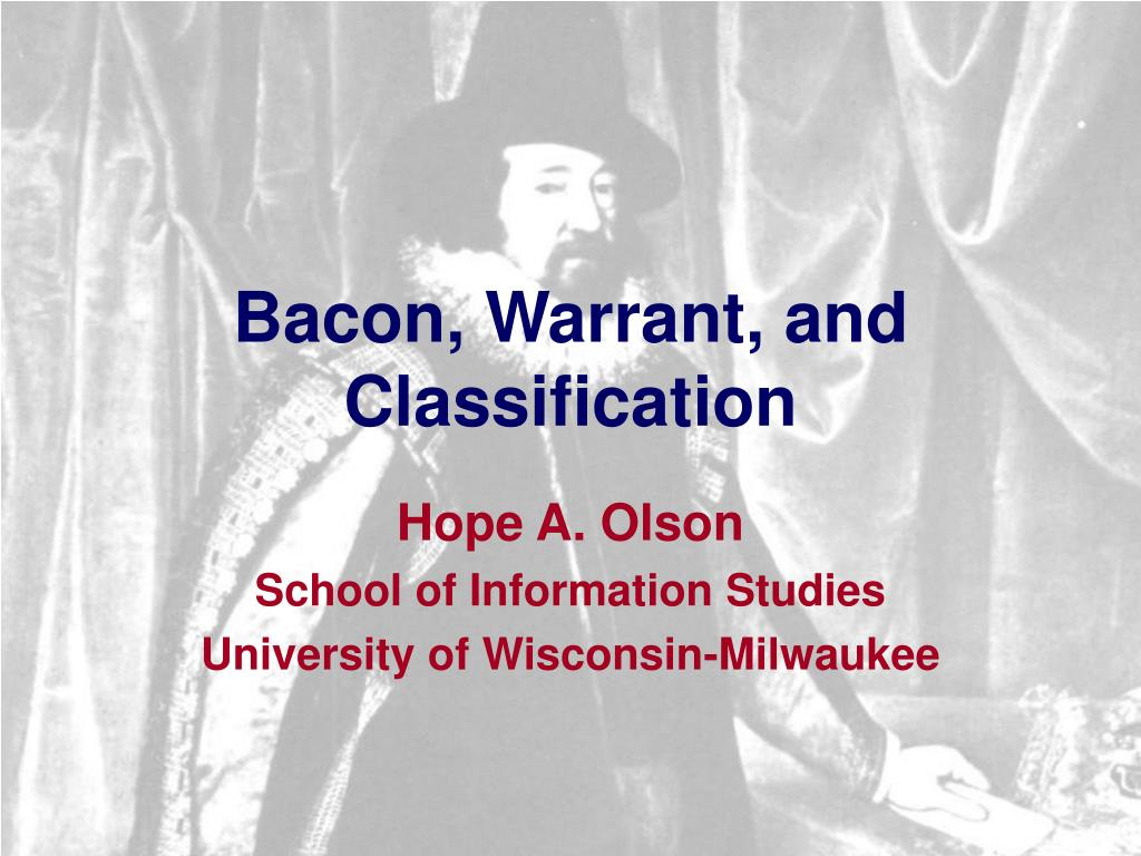bacon warrant and classification