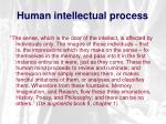 human intellectual process