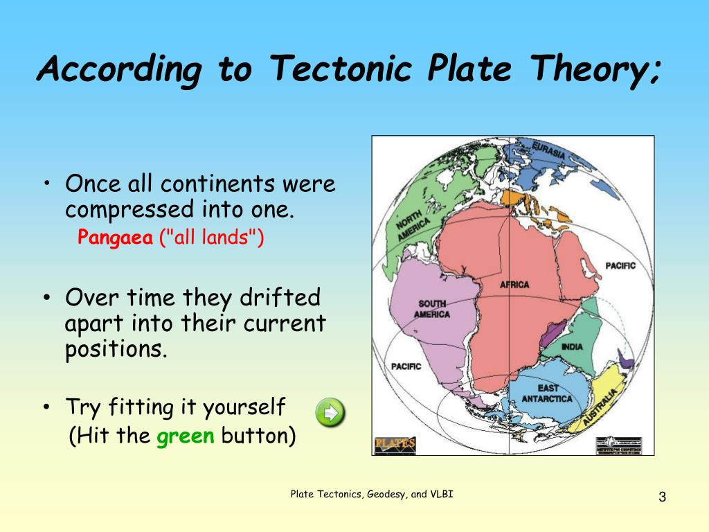 According to Tectonic Plate Theory;