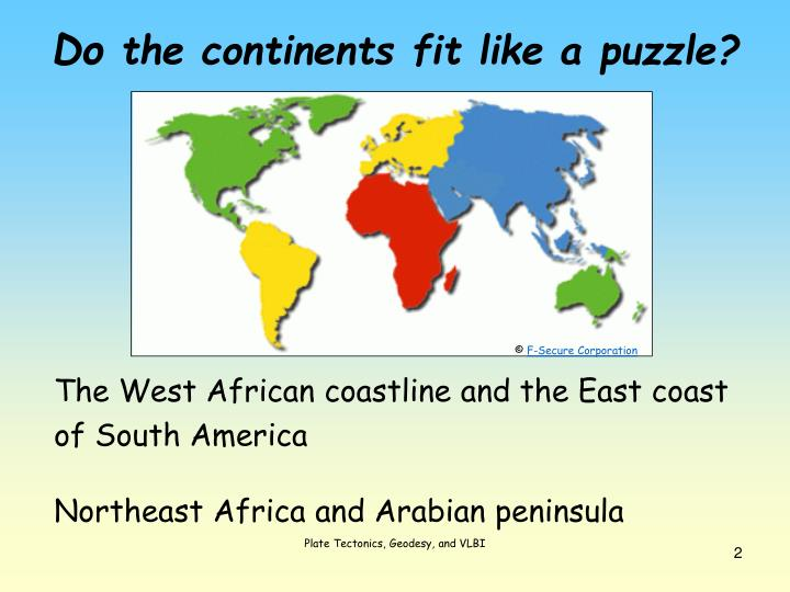 D o the continents fit like a puzzle