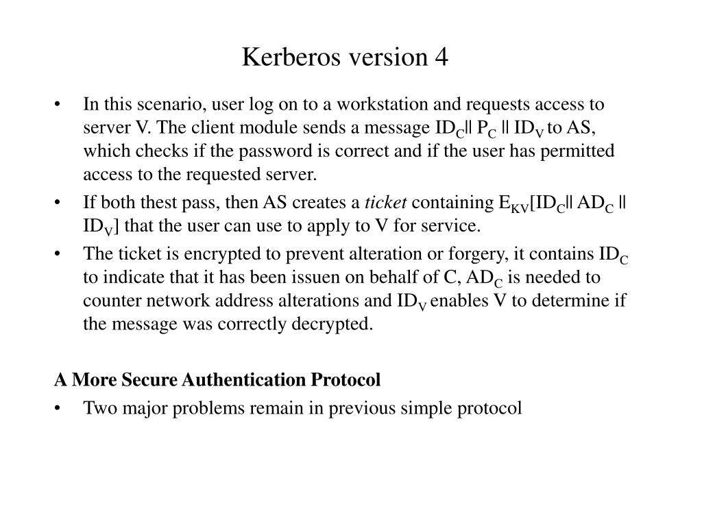 Kerberos version 4